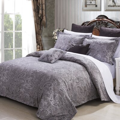 Paris 3 Piece Reversible Duvet Cover Set Size: Queen