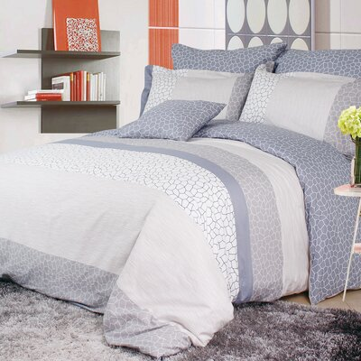 Water Cube 4 Piece Reversible Duvet Set Size: Queen