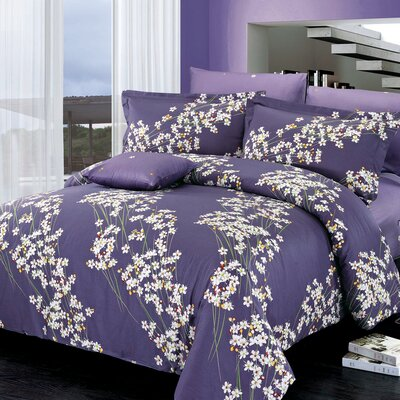 Freesia Reversible Duvet Set Size: Queen