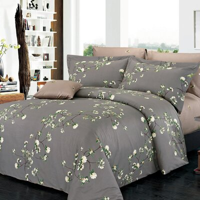 Trellis Reversible Duvet Set Size: Queen