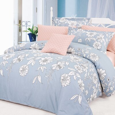 Blinda 4 Piece Reversible Duvet Cover Set Size: Twin
