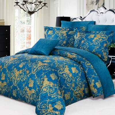 Elizabeth 4 Piece Duvet Cover Set Size: King