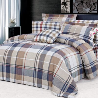 Cambridge 4 Piece Reversible Duvet Cover Set Size: King