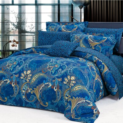 Kensington 4 Piece Reversible Duvet Cover Set Size: King