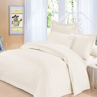 Elite 3 Piece Duvet Set Size: Queen, Color: Ivory