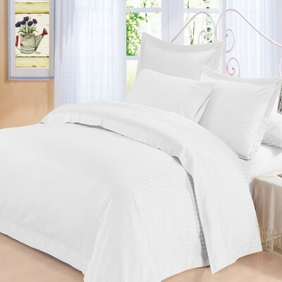 Elite 3 Piece Duvet Set Color: White, Size: King