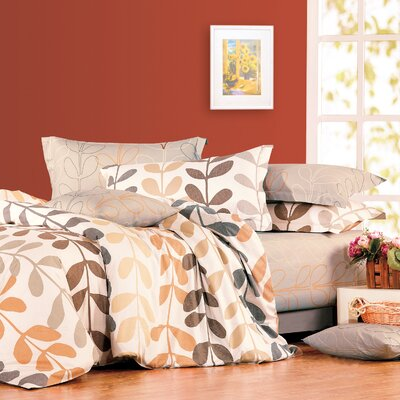 Amelia 4 Piece Duvet Set Size: Queen
