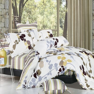 Vintage 3 Piece Reversible Duvet Cover Set Size: Twin