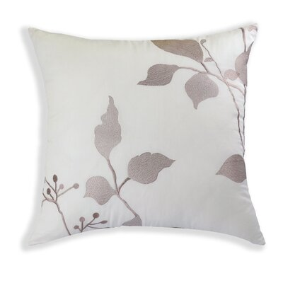 Camille Embroidered Cotton Throw Pillow