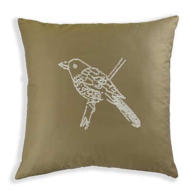 Caroline Embroidered Cotton Throw Pillow