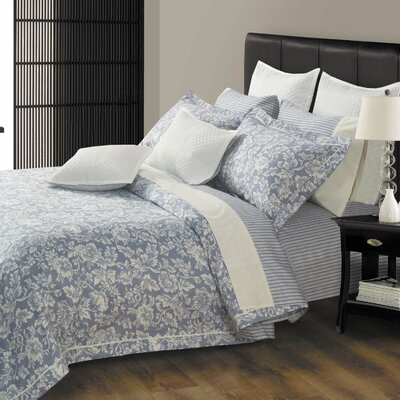 Hampton 3 Piece 300 Thread Count 100% Cotton Sheet Set Size: Queen