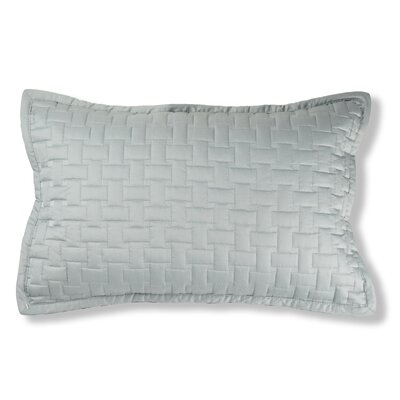 Magnolia Quilted Cotton Lumbar Pillow