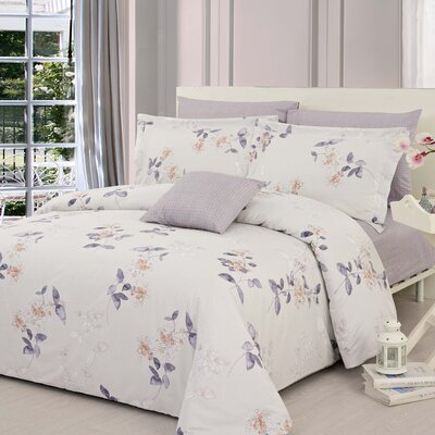 Jaime 3 Piece Reversible Duvet Cover Set Size: King