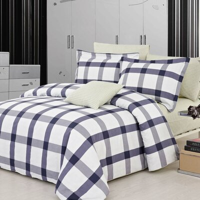 Manchester 3 Piece Reversible Duvet Cover Set Size: Twin
