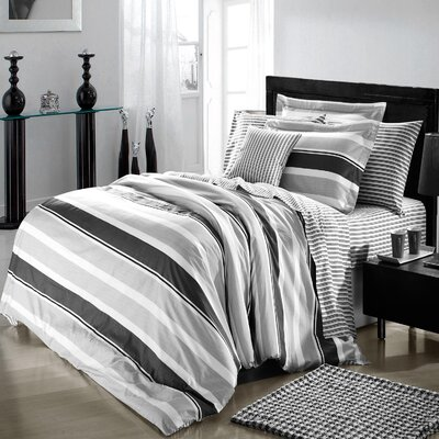 Trenton 4 Piece Duvet Cover Set Size: King