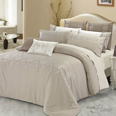 Madeline 3 Piece Reversible Duvet Cover Set Size: King