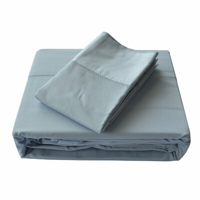 Isabelle Solid Bed Skirt Size: Double, Color: Ice Blue