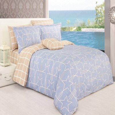 Alexandra 4 Piece Reversible Duvet Cover Set Size: Queen