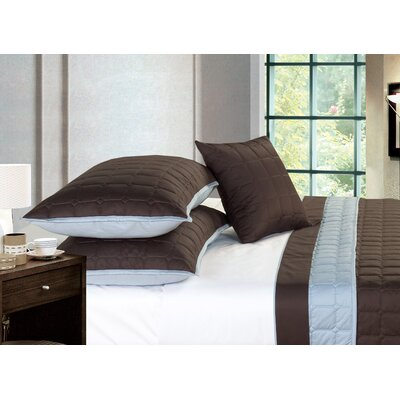 Camelot Egyptian-Quality Cotton 4 Piece Coverlet Set Size: King
