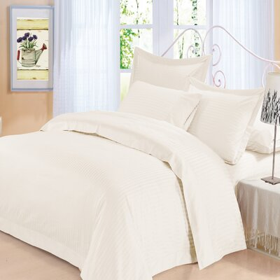 Elite 4 Piece 500 Thread Count 100% Cotton Sheet Set Color: Ivory, Size: King