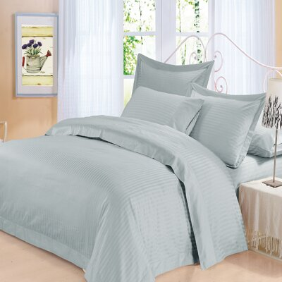 Elite 4 Piece 500 Thread Count 100% Cotton Sheet Set Color: Ice Blue, Size: King