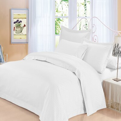Elite 4 Piece 500 Thread Count 100% Cotton Sheet Set Color: White, Size: Queen