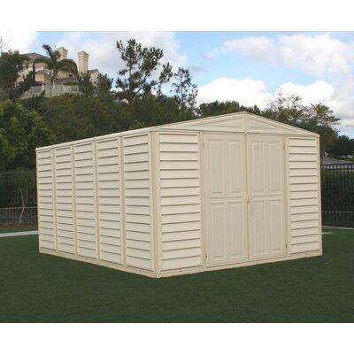 Duramax WoodBridge 10.5ft. W x 8ft. D Vinyl Storage Shed - Foundation: No