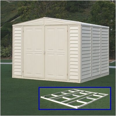 Duramax DuraMate 8 Ft. W x 8 Ft. D Vinyl Storage Shed (2 Pieces) - Foundation: No