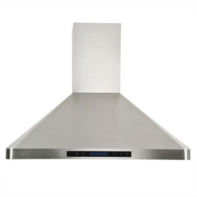 "Cavaliere Stainless Steel 36"" x 20"" Wall Mount Range Hood with Adjustable Airflow at Sears.com"
