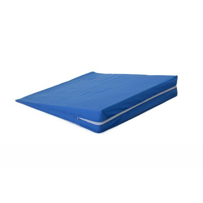 Bed Wedge Cover Color: Blue, Size: 0.5-10 H x 24 W x 24 D