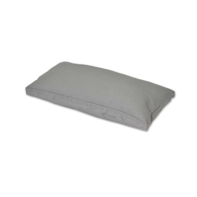 Gusset and Removable Throw Pillow Color: Gray