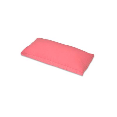 Gusset and Removable Lumbar Pillow Color: Rose