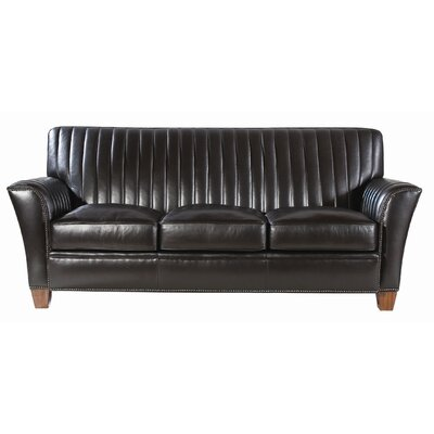 Belle Meade Signature Blair Leather Sofa In Midnight