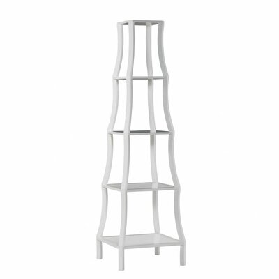 Chamberlain Etagere 82'' Bookcase Finish: White Product Image 88