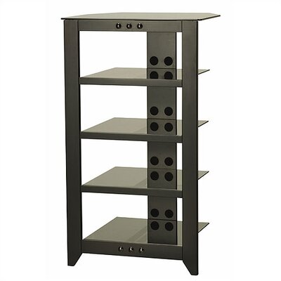 Natural AV Series Audio Rack Color: Black