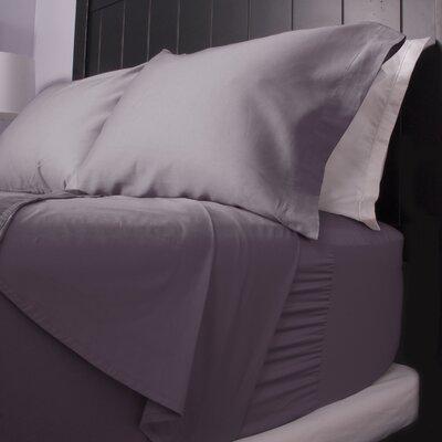 300 Thread Count Cotton Sateen Sheet Set Size: Twin, Color: Elderberry