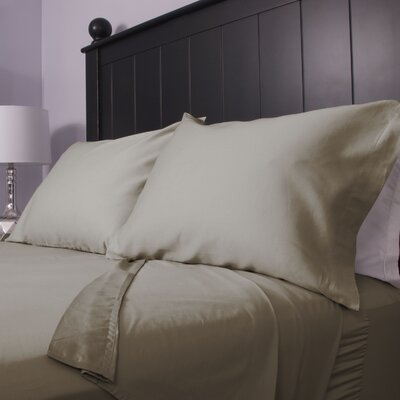 300 Thread Count Cotton Sateen Sheet Set Size: Full, Color: Tan