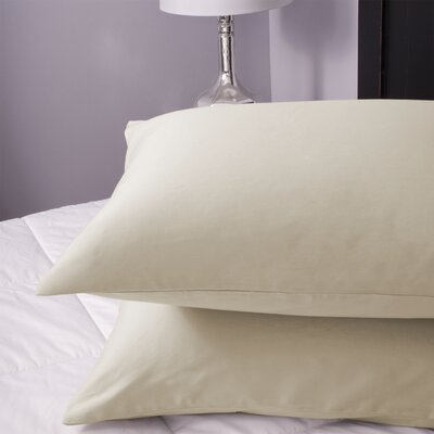 Pillowcase Color: Vanilla, Size: King