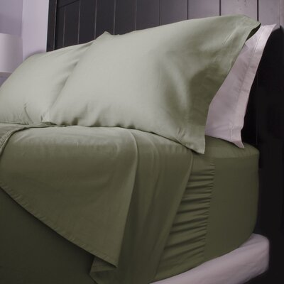 300 Thread Count Cotton Sateen Sheet Set Size: Full, Color: Green