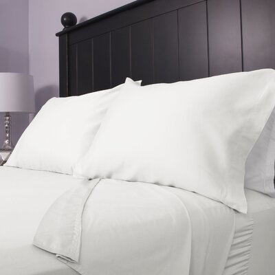 300 Thread Count Cotton Sateen Sheet Set Color: White, Size: Twin Extra Long