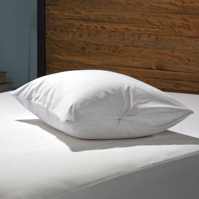 Stain Protection Zippered Pillow Encasement Size: King