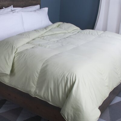 Down Comforter Size: King, Color: Green