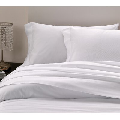 Raso Hemstitch 300 Thread Count Sateen Pillowcase Pair Color: Ivory, Size: Standard