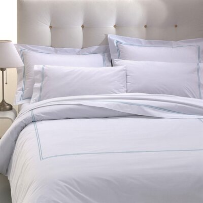 Manhattan/Hotel 200 Thread Count Cotton Flat Sheet Size: Queen, Color: Navy