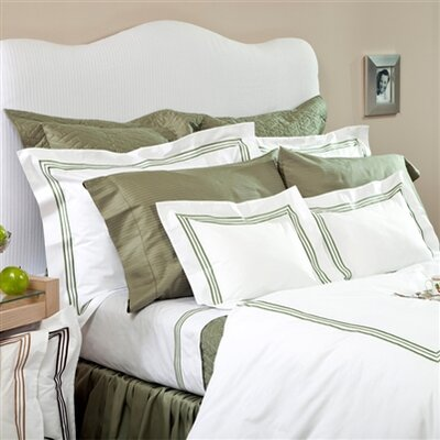 Tivoli Duvet Cover Size: King, Embrodery Color: Chocolate
