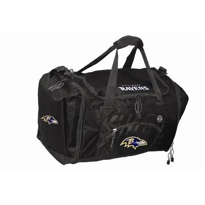 "Nfl 20"" Roadblock Gym Duffel Nfl Team: Baltimore Ravens, Color: Black"