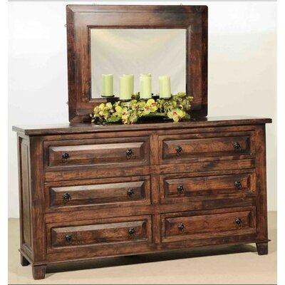Castle 6 Drawer Dresser with Mirror