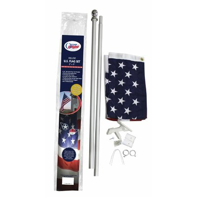 Traditional Flag and Flagpole Set