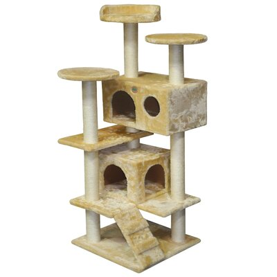 53 Cat Condo Color: Beige