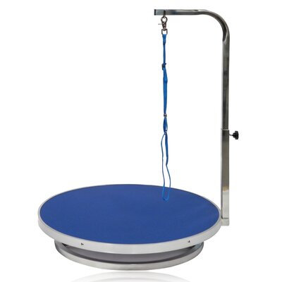 Dog Grooming Table with Arm Finish: Blue